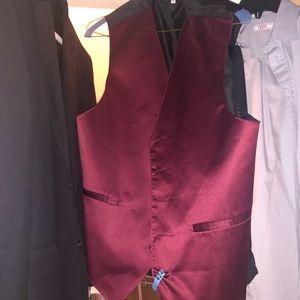 Boyssuit jacket,pants,gray button down,maroon vest